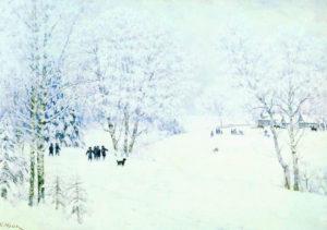 Сочинение по картине Юона Русская зима 5 класс