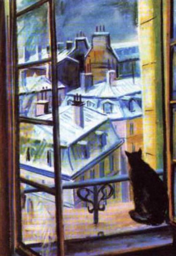 Сочинение-описание картины Вилли Джеймса «Кот на окне»