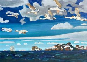 Сочинение-описание картины А. А. Рылова «В голубом просторе», 3 класс